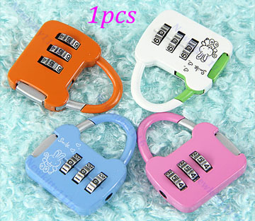 Mini Cute 3 Digit Combination Travel Luggage Suitcase Lock Padlock Security 13B